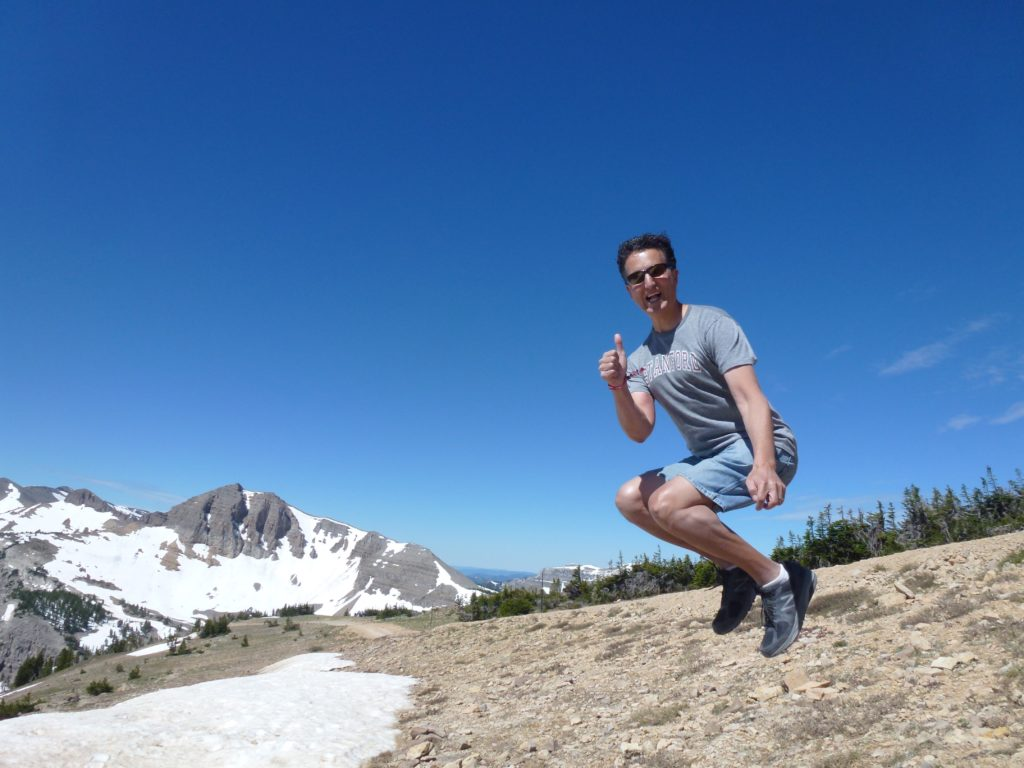 Jumping 10450 feet. Grand Teton